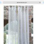 Tenda lino con righe Blanc Mariclò