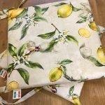 Cuscino sedia con disegno limoni , Il Maggiolino