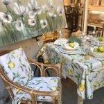 Cuscino per sedia con disegno limoni , Il Maggiolino